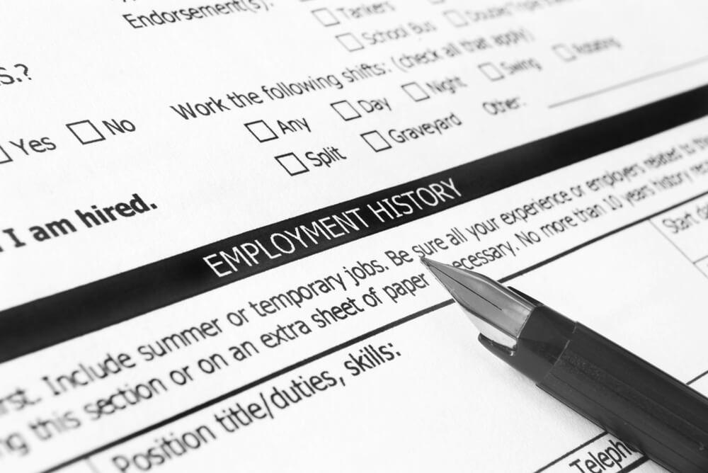 Employment History Document